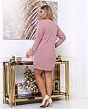Платье из тонкой вязки полуприталенного кроя демисезонное, разные цвета р.48.50.52.54.56 Код Синтра, фото 5