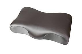 Ортопедическая подушка Beauty Balance от морщин сна и утренней отечности (MEMORY FOAM). шелк, графит