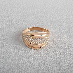 Золотое кольцо с фианитами KП1716