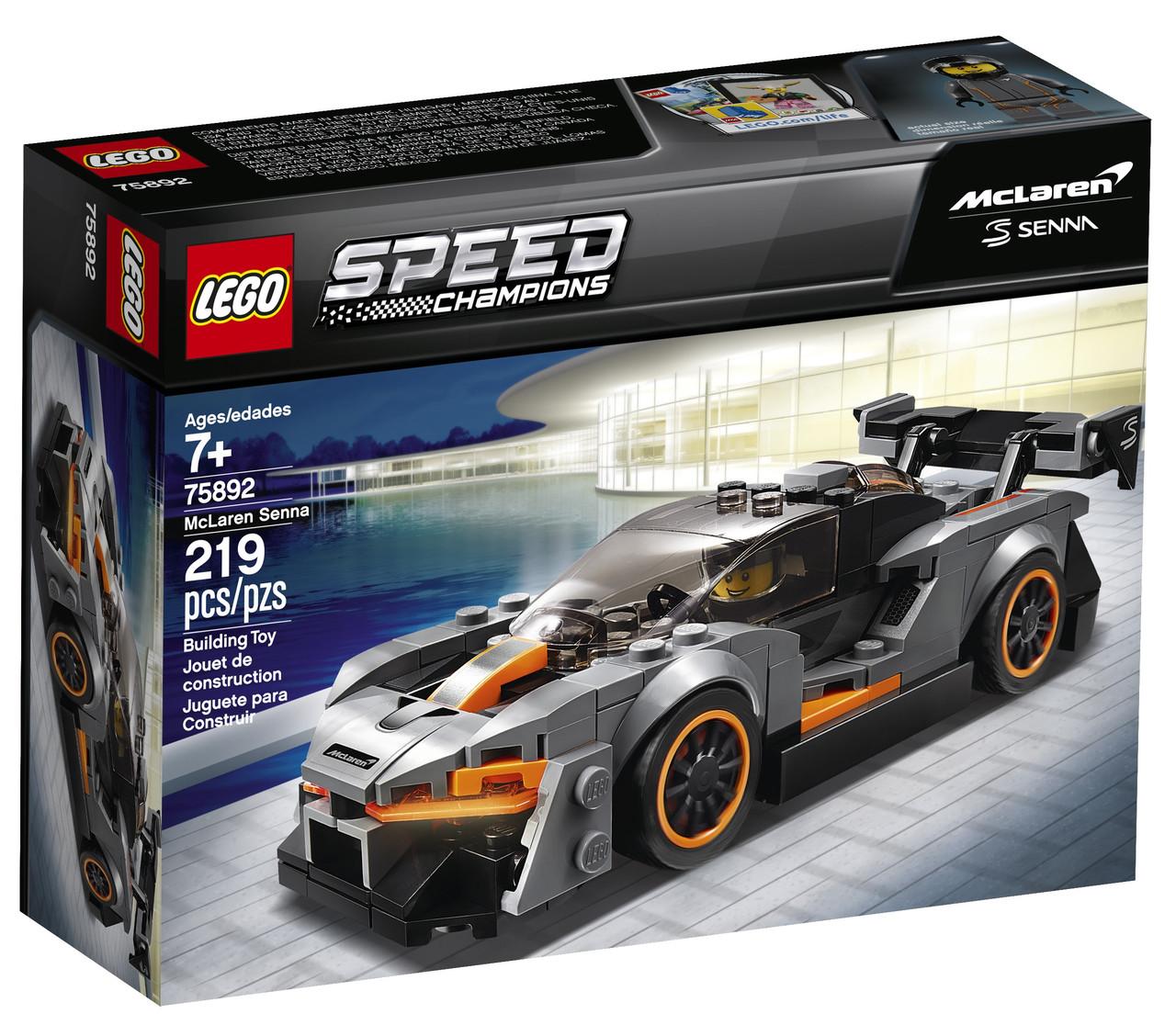 Детский Конструктор Lego Speed Champions Автомобиль McLaren Senna 75892