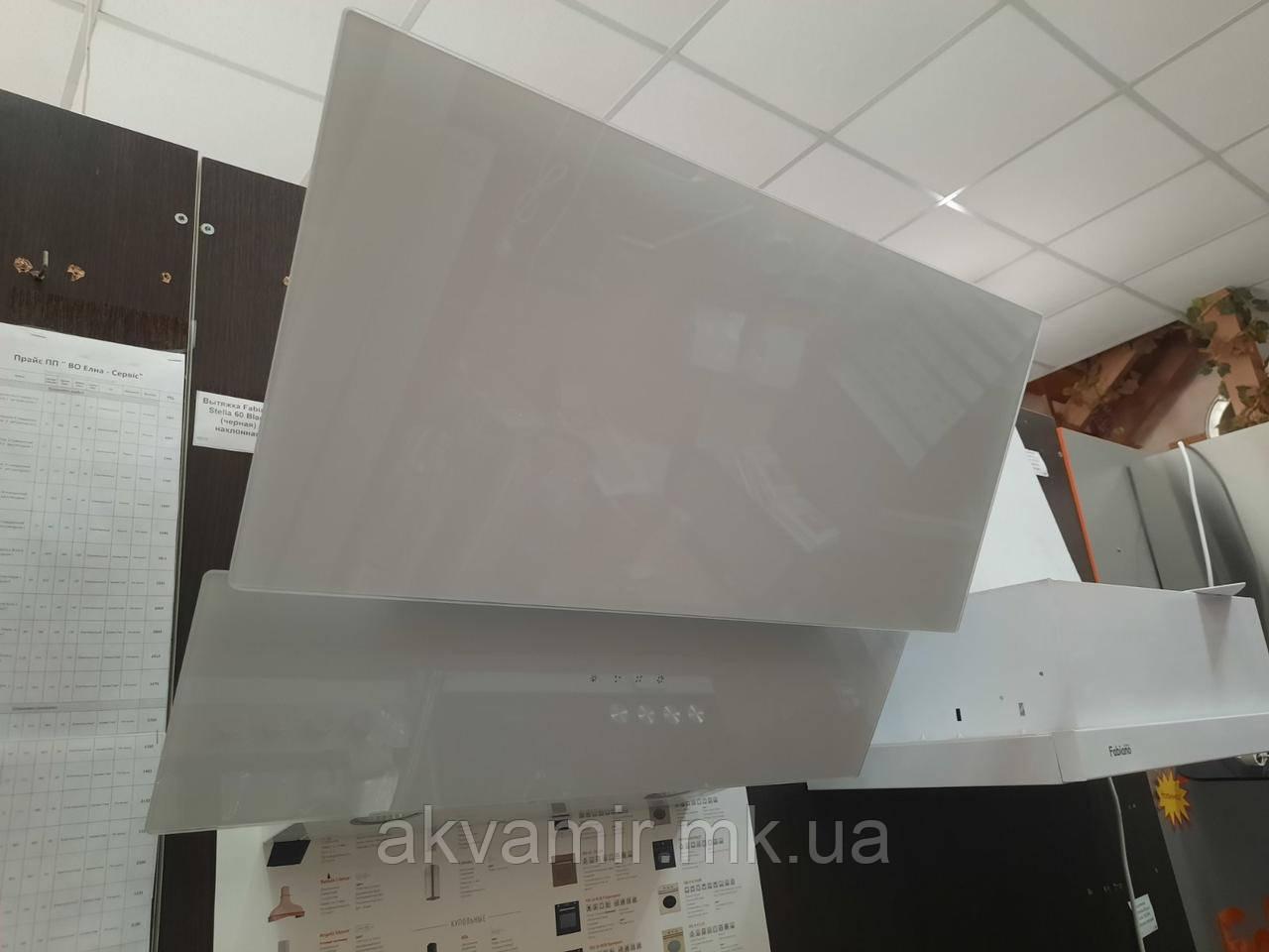 Вытяжка Fabiano Prisma-A 60 White (белое стекло) наклонная