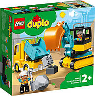 Lego Duplo Грузовик и гусеничный экскаватор 10931, фото 1