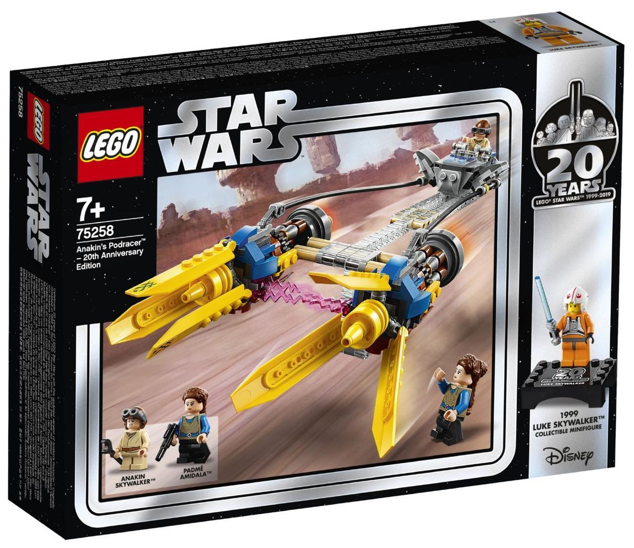 Детский Конструктор Lego Star Wars Гоночный под Энакина: выпуск к 20-летнему юбилею 75258