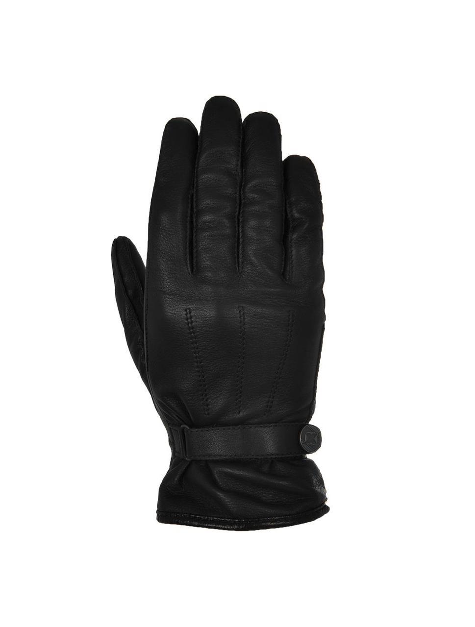 Мотоперчатки кожаные короткие Oxford Holton черный, XL