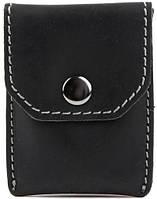 Мужское оригинальное кожаное портмоне для монет и карточек Black Brier П-15-35 черный