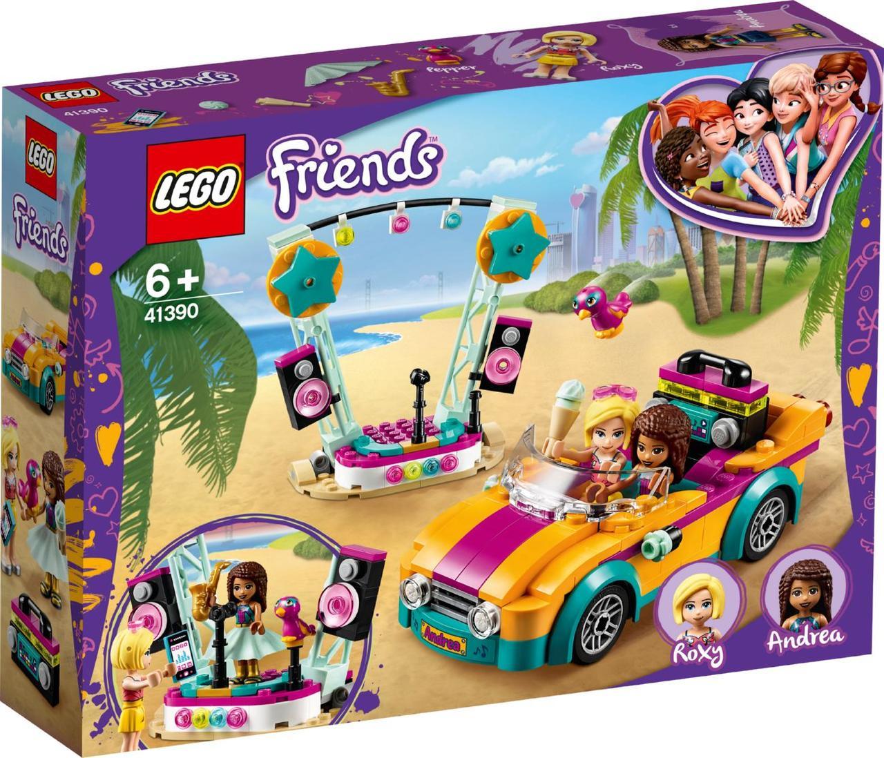 Lego Friends Машина со сценой Андреа 41390