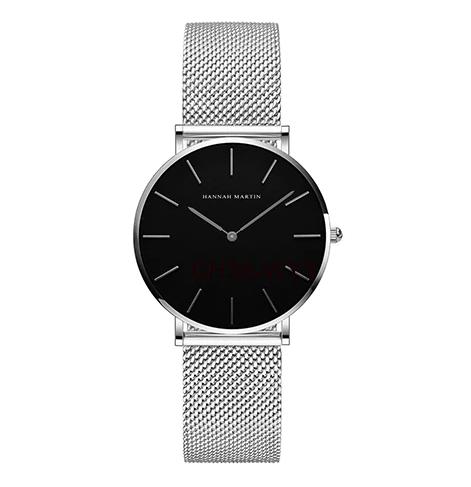Часы Hannah Martin (silver/black) - гарантия 12 месяцев