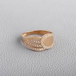 Каблучка жіноче золота з фіанітами КП1734