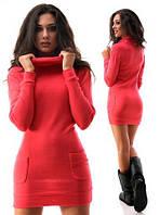 Платье-туника с карманами