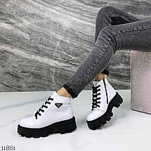 Ботинки белые натуральная кожа 11861 (ЯМ), фото 2