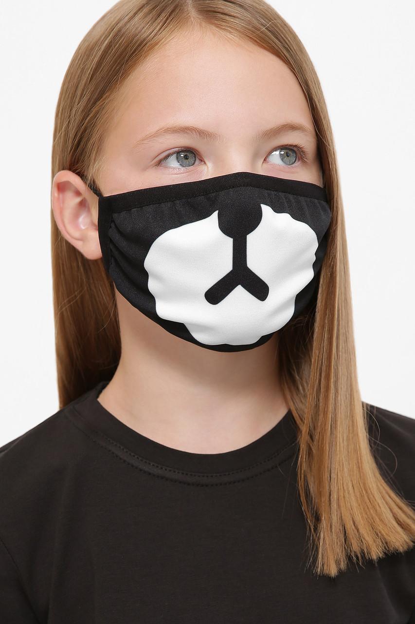 Защитная детская тканевая маска с принтом