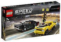Детский Конструктор Lego Speed Champions Автомобили 2018 Dodge Challenger SRT Demon и 1970 Dodge Charger R/T, фото 1