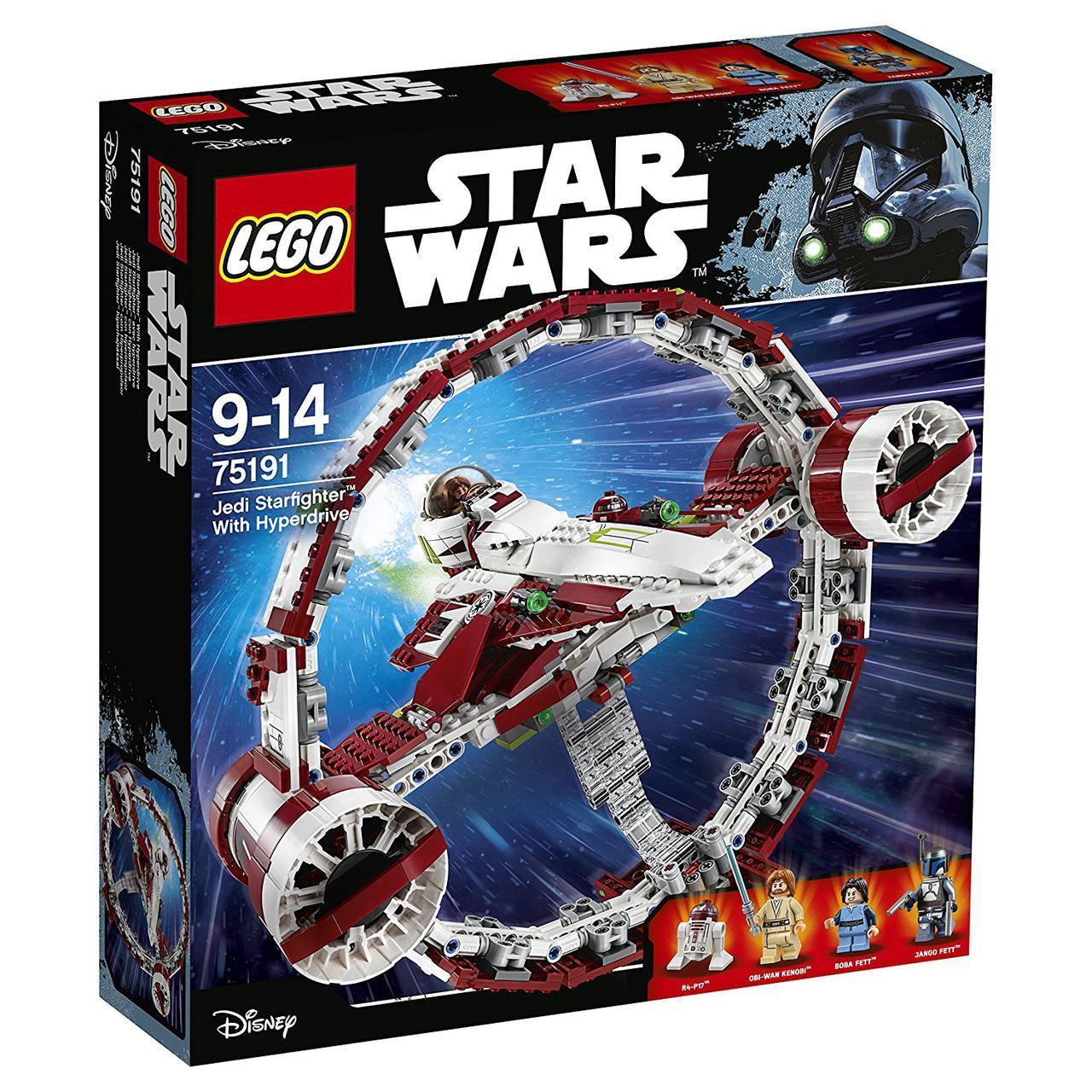 Lego Star Wars Звёздный истребитель джедаев с гипердвигателем 75191