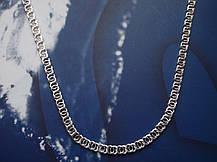 Срібний ланцюжок, 550мм, Арабська бісмарк, 27 грамів, світле срібло, фото 3