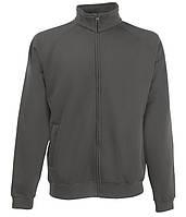 Толстовка Fruit of the Loom Classic sweat jacket XXL Светлый графит 0622300GLXXL, КОД: 1700268