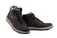 Мужские ботинки кожаные зимние черные-коричневые Barzoni 333, фото 1