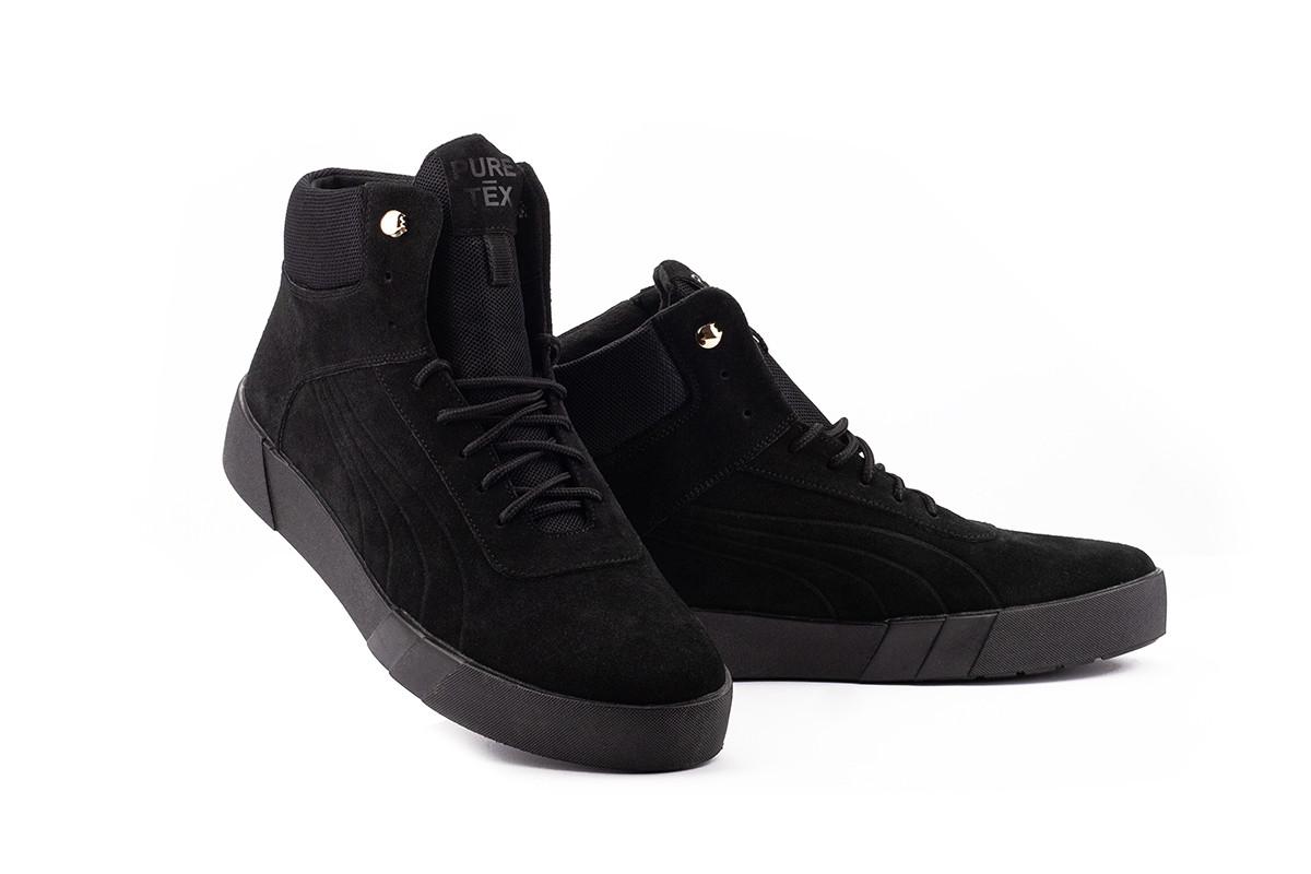 Мужские ботинки замшевые зимние черные Nev-Men P1-2