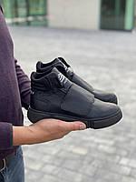 Подростковые ботинки кожаные зимние черные Monster A, фото 1