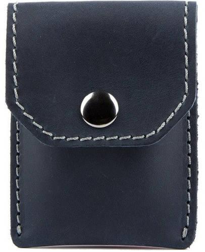 Мужское качественное кожаное портмоне для монет и карточек Black Brier П-15-97 темно-синий