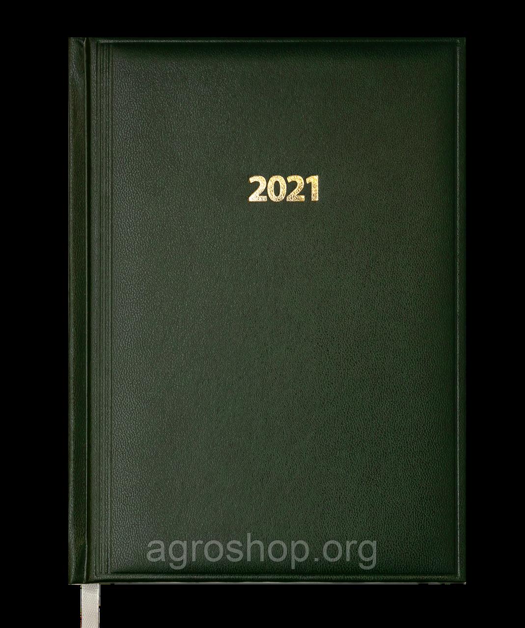 Щоденник датов.2021 BASE (Miradur), зелений, L2U, A5, бумвініл/поролон