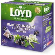Чай фруктовий LOYD BLACKCURRANT & ELDERBERRY смор-квіти ч. бузини, 40г (20 пірамідок),10шт/ящ3103568