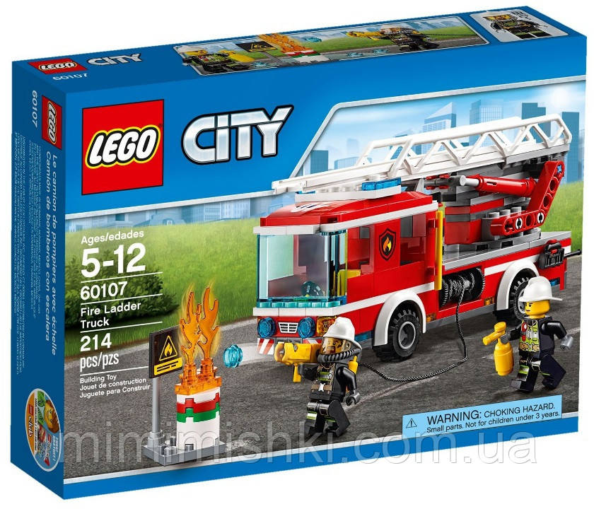 Lego City Пожарный автомобиль с лестницей 60107