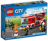 Детский Конструктор Lego City Пожарный автомобиль с лестницей 60107, фото 1
