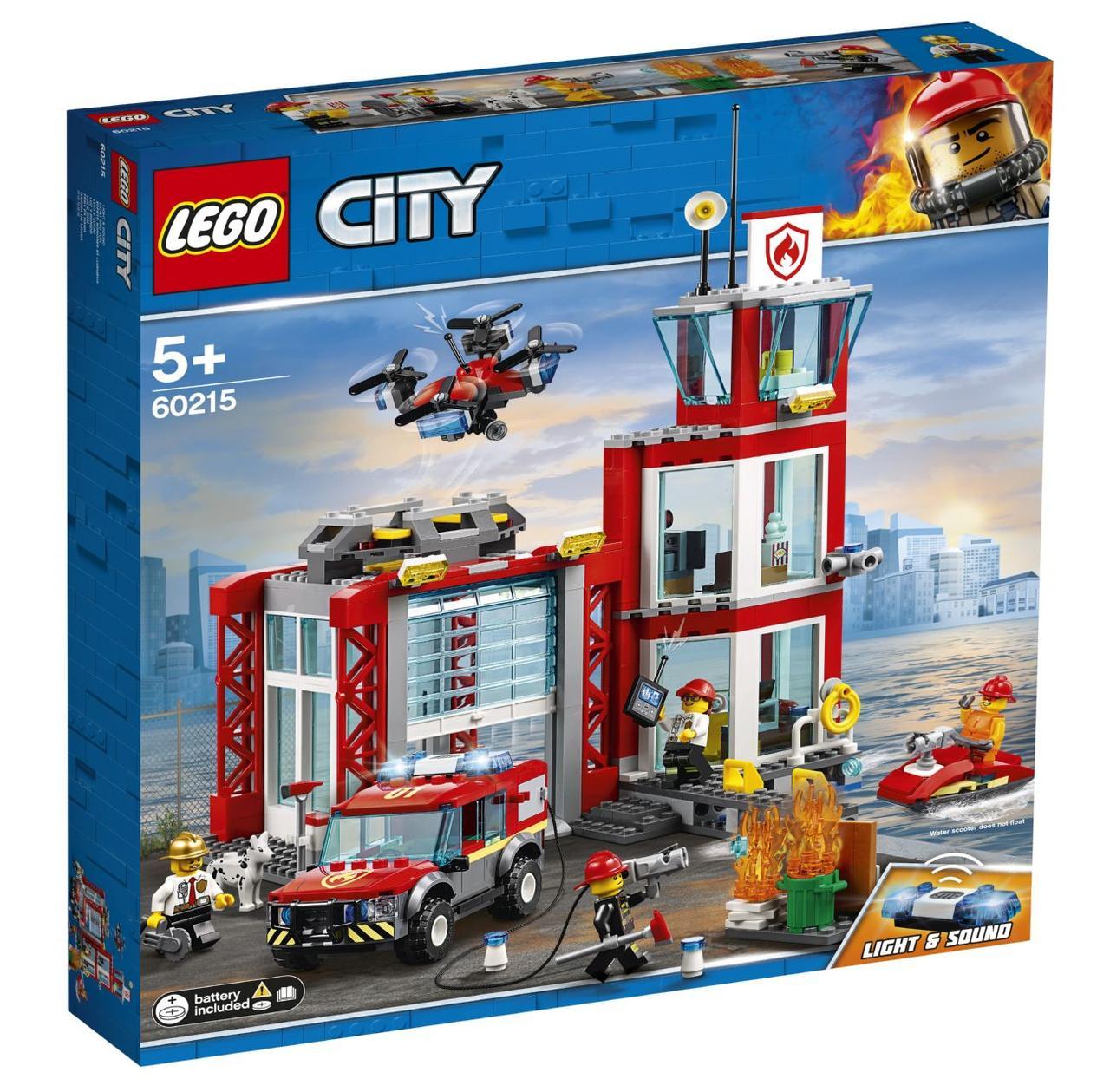 Детский Конструктор Lego City Пожарное депо 60215