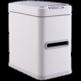 Сенсорное ведро для мусора с внутренним ведром Jah533 7л Белое (Papatya-TM)