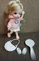 Шарнирная кукла BJD мини, рост 16 см + одежда, обувь и аксессуары в подарок