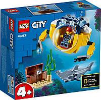 Детский Конструктор Lego City Океан: мини-подлодка 60263, фото 1