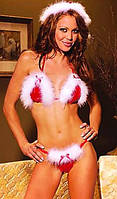 Секси костюм Снегурочка: лиф, трусики и шапочка. Опт, розница. Украина.