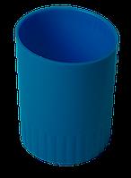 Стакан пластиковый для письменных принадлежностей синий buromax bm.6351-02
