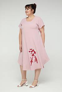 Женское платье свободного кроя, размеры 52-60