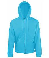 Толстовка Fruit of the Loom Classic hooded sweat jacket XXL Голубой 0620620ZUXXL, КОД: 1694237