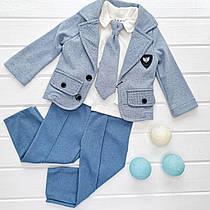 """Классический детский костюм для мальчика """"Светло-голубой"""" 9м"""