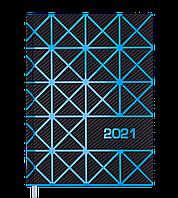 Щоденник датов. 2021 LINEA, А5, синій, фото 1