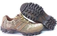 Кожаные кроссовки треккинговые камуфляжные Тактические кроссовки ZAMISTO Хаки (С-510)36