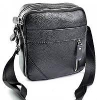 Мужская кожаная сумка  W-127 Black. Мужские сумки оптом и в розницу недорого в Украине., фото 1