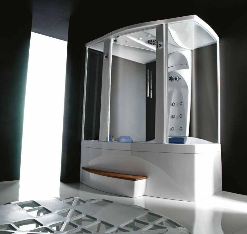 Гидромассажная ванна с душевой системой Treesse  V7637M + B7610 1700x1380x2200