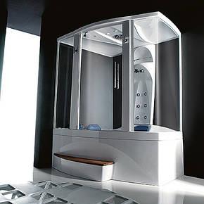 Гидромассажная ванна с душевой системой Treesse  V7637M + B7610 1700x1380x2200, фото 2