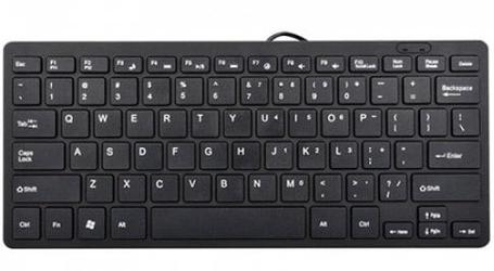 USB мини клавиатура UKC K1000 черная, фото 2