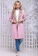 Кардиган женский без застежек SEV-1048.4324 розово-коричневый, S-M