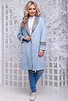 Кардиган женский без застежек SEV-1048.4324 голубо-серый, S-M