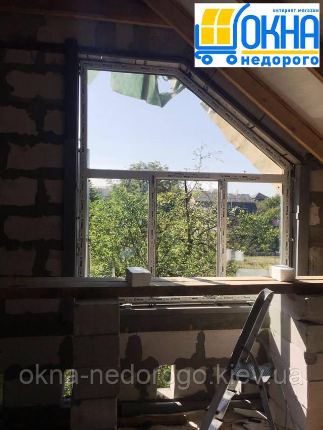 Трапецієвидні вікна пластикові WDS (Україна) фото роботи Вікна Недорого