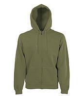 Толстовка Fruit of the Loom Classic hooded sweat jacket XXL Оливковый 062062059XXL, КОД: 1694233