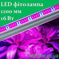 Светодиодная фитолампа лед лампа для растений 1200 мм 16 Вт T8-2835-1.2F R:B=4:2