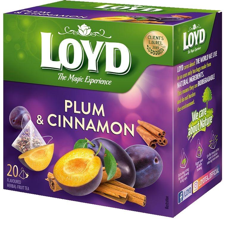 Чай фруктовий LOYD PLUM & CINNAMON зливу і кориця, 40г (20 пірамідок), 10шт/ящ 3103575