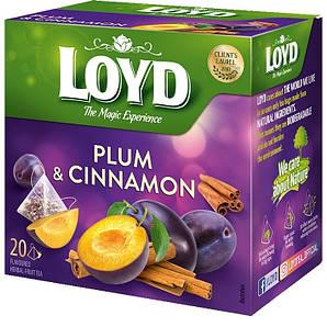 Чай фруктовий LOYD PLUM & CINNAMON слива і кориця, 40г (20 пірамідок), 10шт/ящ 3103575