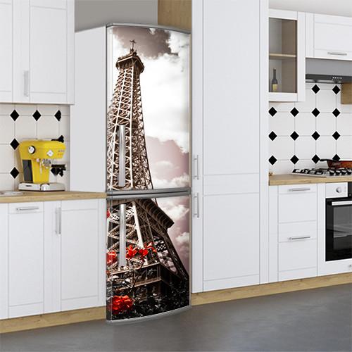 Виниловая наклейка на холодильник, Оклейка холодильника виниловой пленкой, Самоклейка, 180 х 60 см, Лицевая (holSS1_et10185 Примечат.)